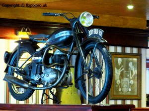 Bike in a bar